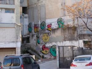על הקיר ברחוב לבונטין