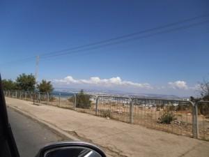 מבט מסוף כביש רופין בואכה רחוב גאולה נמל חיפה ורש הנקרה