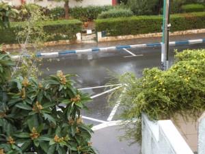 נחל -גשם זורם על רחובנו