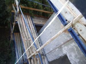פיגום עם בטון