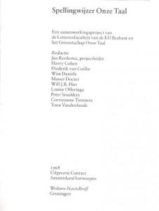 חבר הכותבים בחסות אוניברסיטת בראבנט ועמותת onze taal