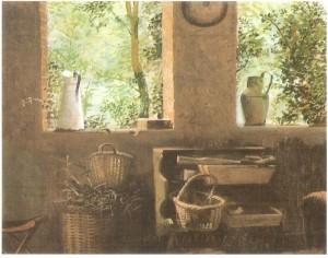 גלויה ששלחה לי טרז 'כי זה מזכיר את ביתה שבו בקרתי'