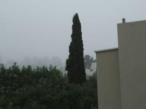 ככה נראית אותה השכונה [ראה תמונה מימין] ביום של סערת חול