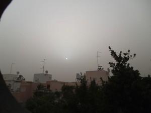 השמש ביום השלישי לסערת החול