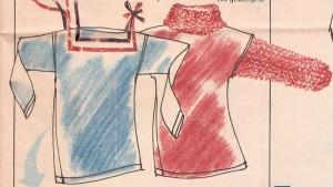 שינויי חולצות T הוספת שרוולי סריג [בידייך או קנוי] או תפירת סרטים שונים