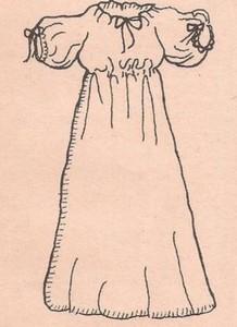 איור של השמלה הכפרית