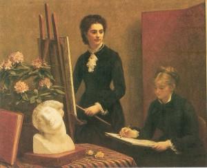 שיעור הציור בסדנה -הנרי פאנטין-לאטור